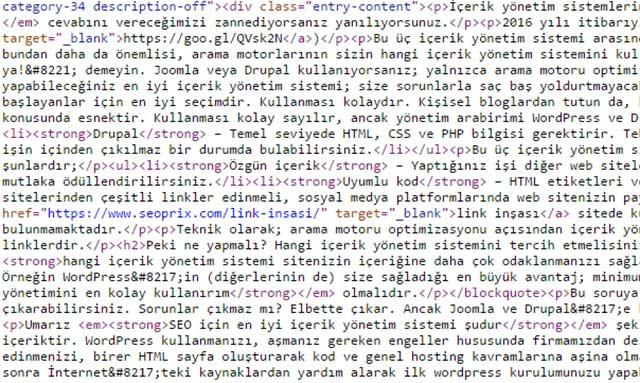html kodlar